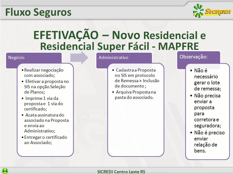 EFETIVAÇÃO – Novo Residencial e Residencial Super Fácil - MAPFRE