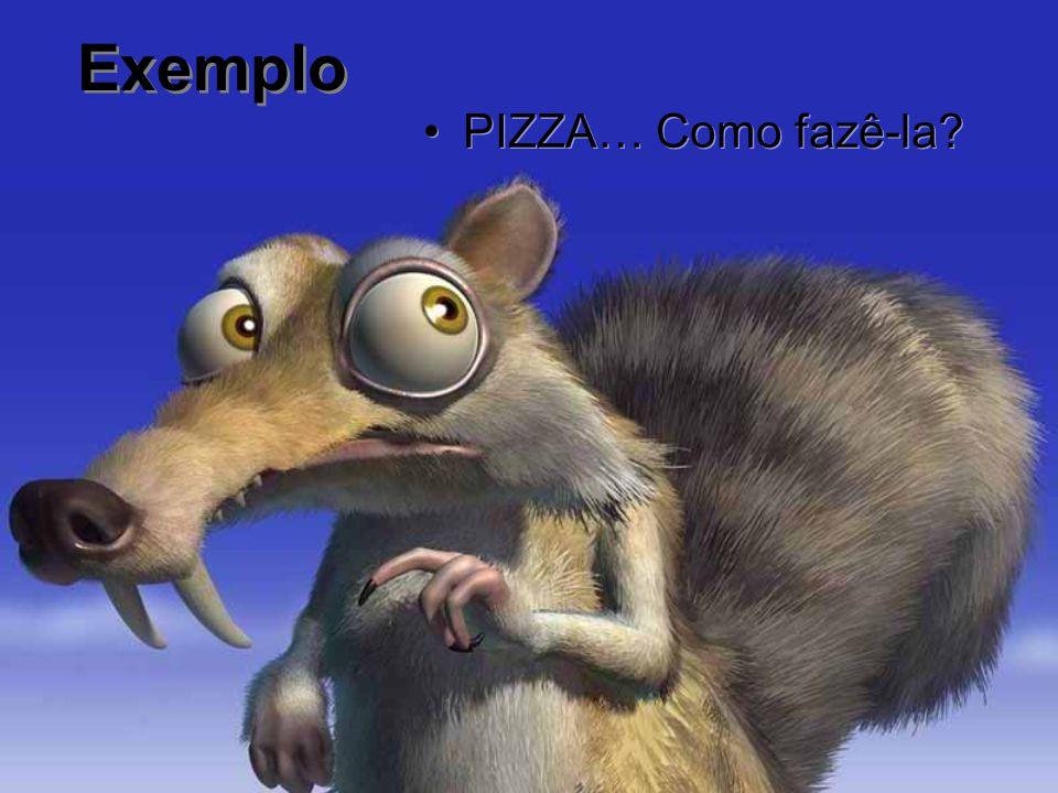 Exemplo PIZZA… Como fazê-la