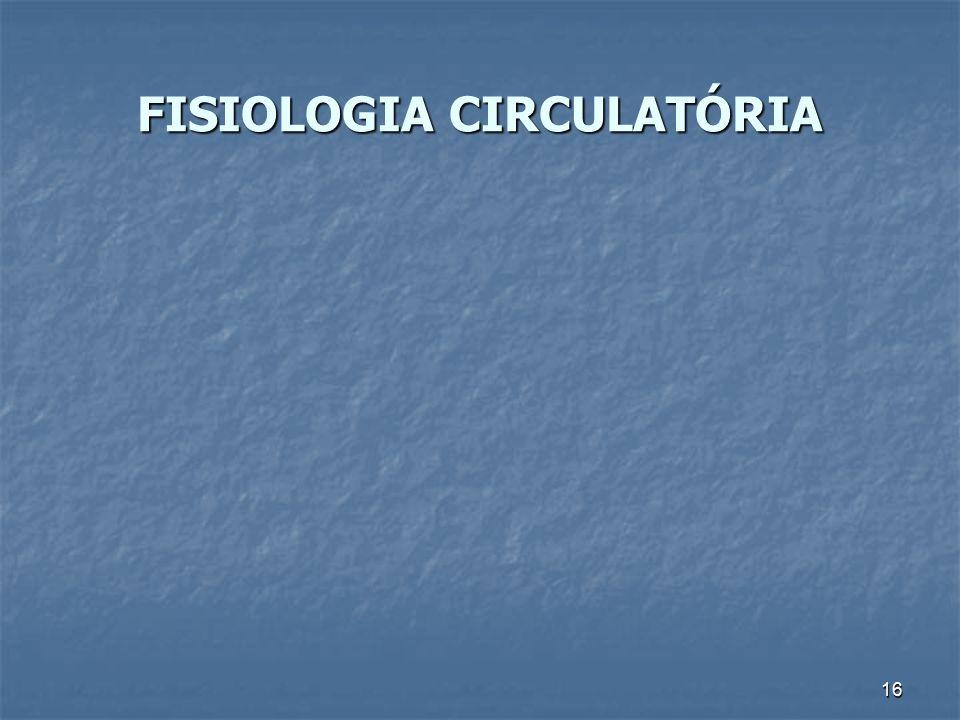FISIOLOGIA CIRCULATÓRIA