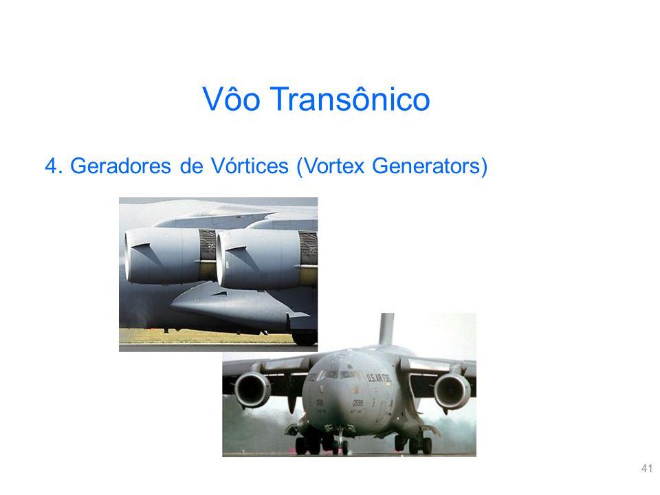 Vôo Transônico Geradores de Vórtices (Vortex Generators)