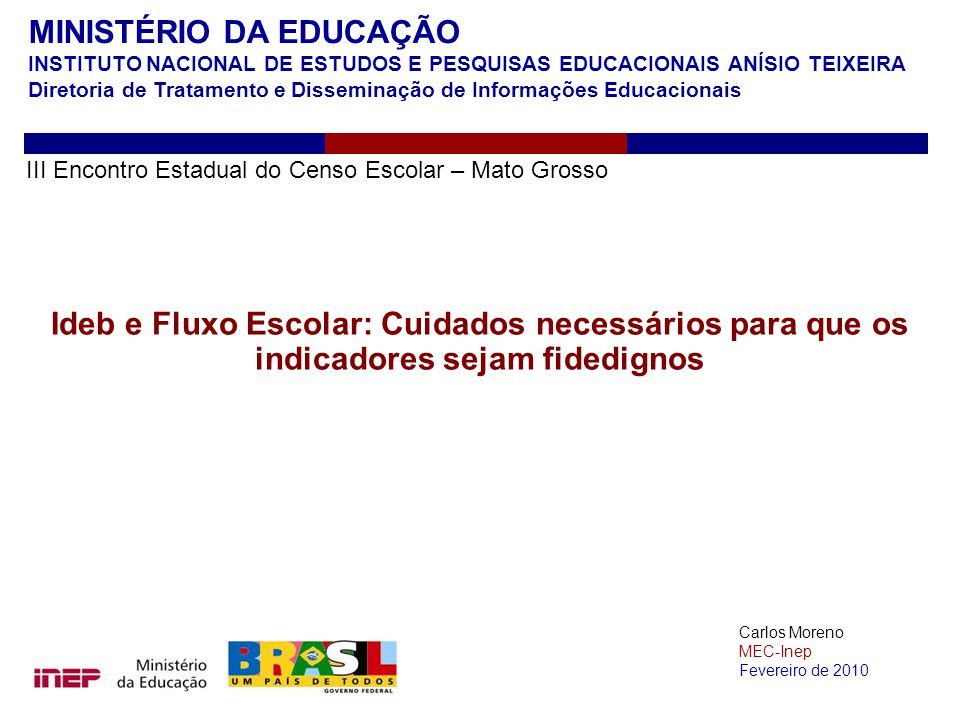 MINISTÉRIO DA EDUCAÇÃO