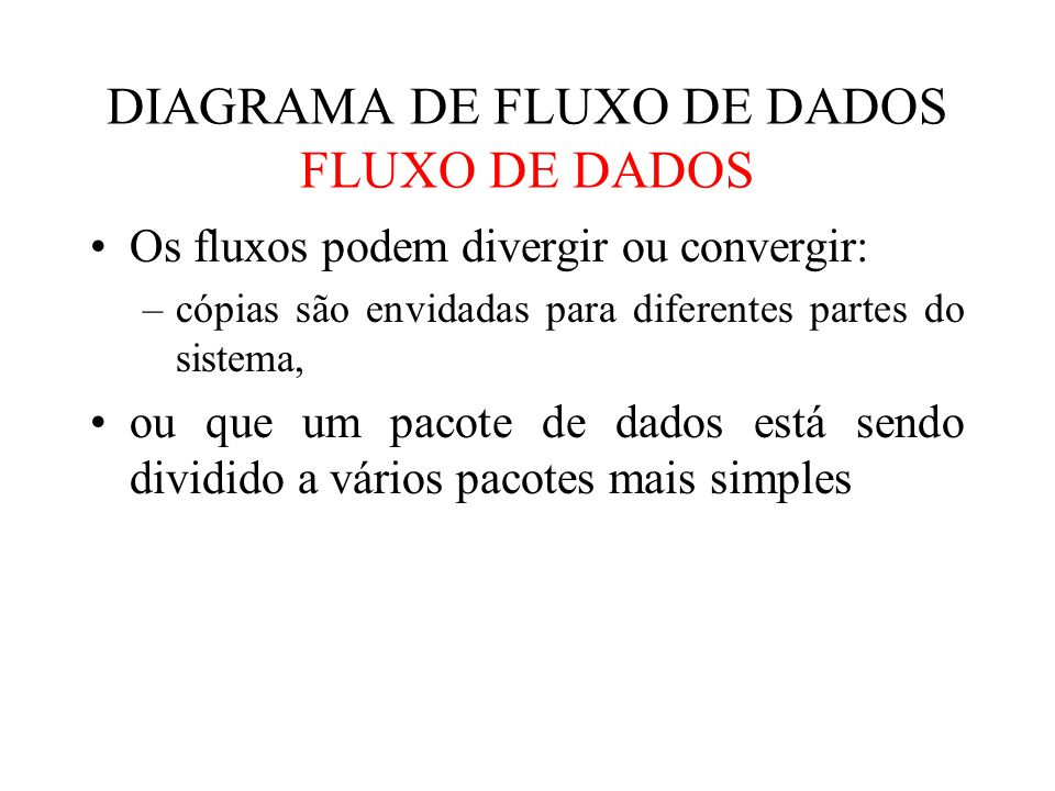 DIAGRAMA DE FLUXO DE DADOS FLUXO DE DADOS