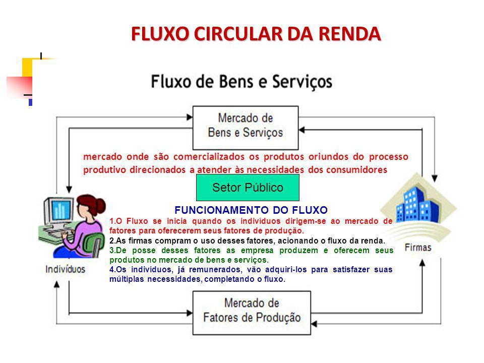 FLUXO CIRCULAR DA RENDA FUNCIONAMENTO DO FLUXO