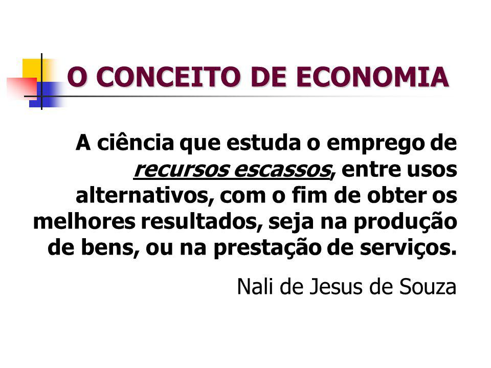 O CONCEITO DE ECONOMIA