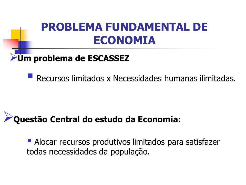 PROBLEMA FUNDAMENTAL DE ECONOMIA