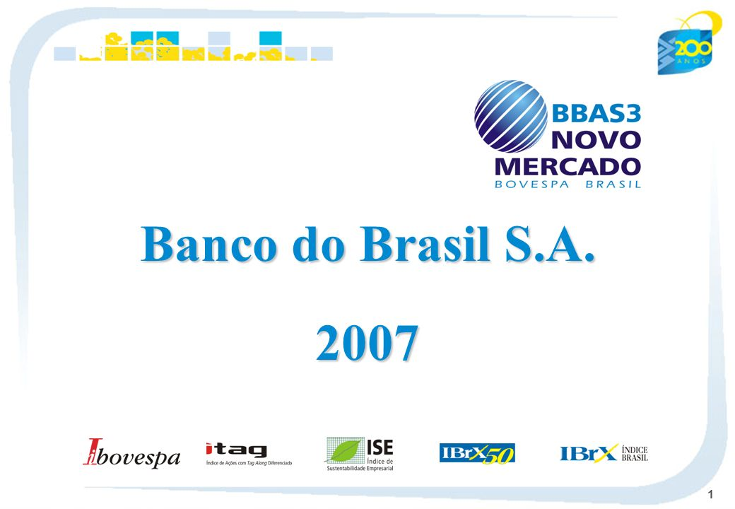 Banco do Brasil S.A. 2007