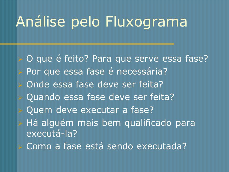 Análise pelo Fluxograma