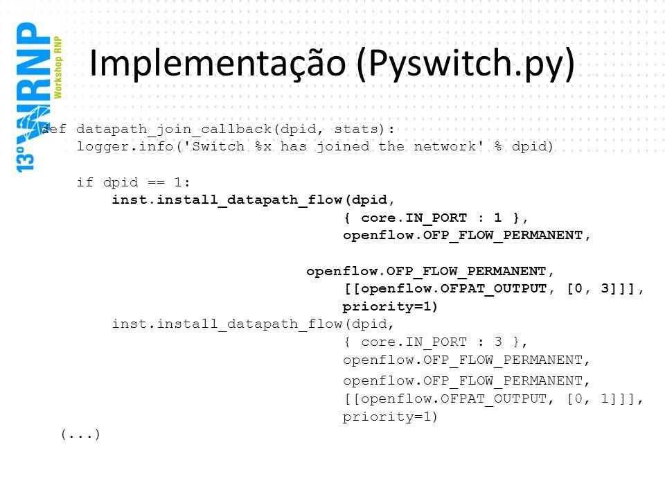 Implementação (Pyswitch.py)
