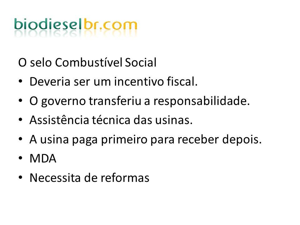 O selo Combustível Social