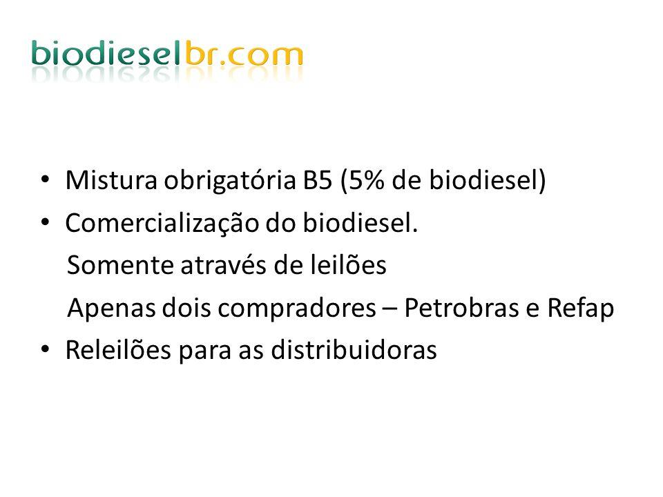 Mistura obrigatória B5 (5% de biodiesel)