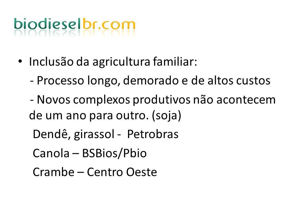 Inclusão da agricultura familiar: