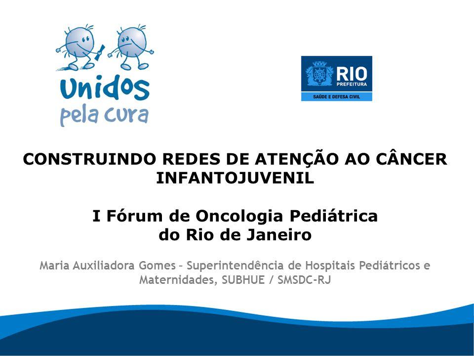 CONSTRUINDO REDES DE ATENÇÃO AO CÂNCER INFANTOJUVENIL I Fórum de Oncologia Pediátrica