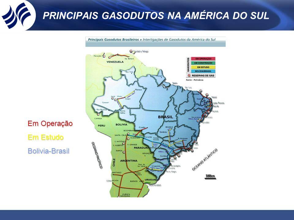 PRINCIPAIS GASODUTOS NA AMÉRICA DO SUL
