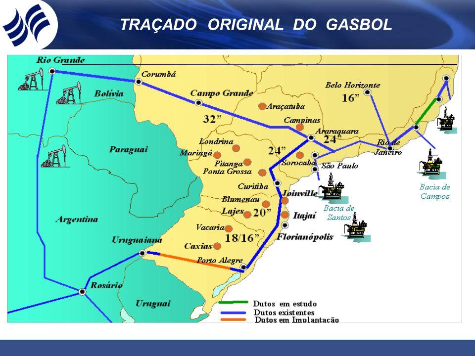 TRAÇADO ORIGINAL DO GASBOL