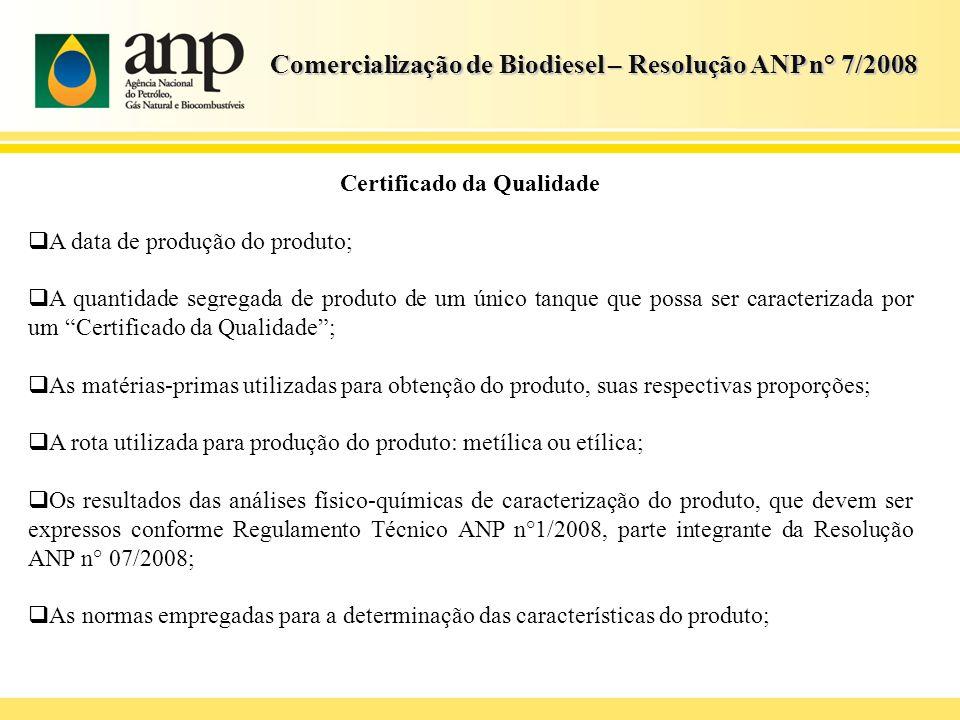 Certificado da Qualidade
