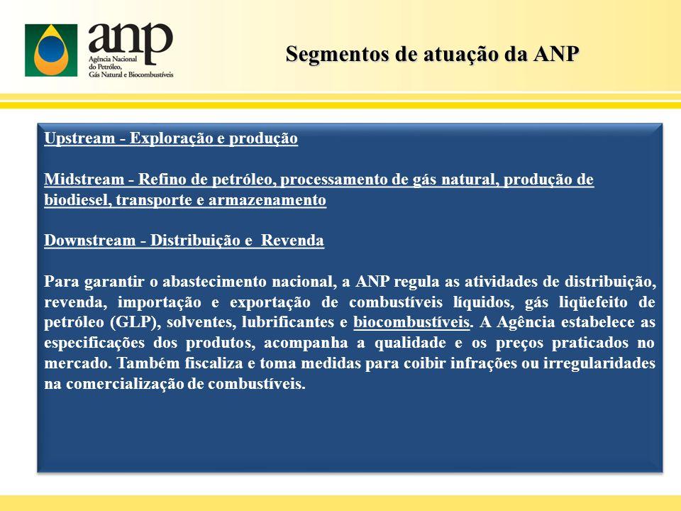 Segmentos de atuação da ANP