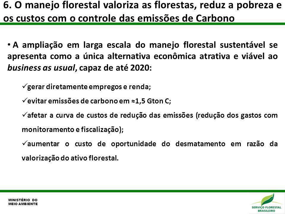 6. O manejo florestal valoriza as florestas, reduz a pobreza e os custos com o controle das emissões de Carbono