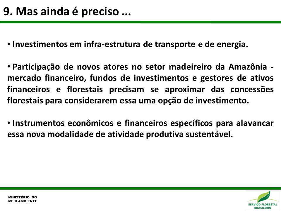 9. Mas ainda é preciso ...Investimentos em infra-estrutura de transporte e de energia.