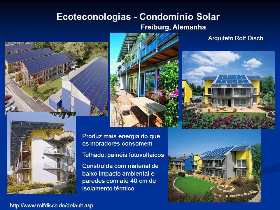 Ecoteconologias - Condomínio Solar Freiburg, Alemanha