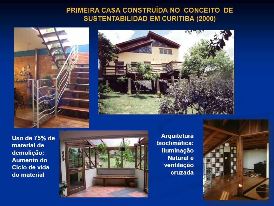 PRIMEIRA CASA CONSTRUÍDA NO CONCEITO DE SUSTENTABILIDAD EM CURITIBA (2000)