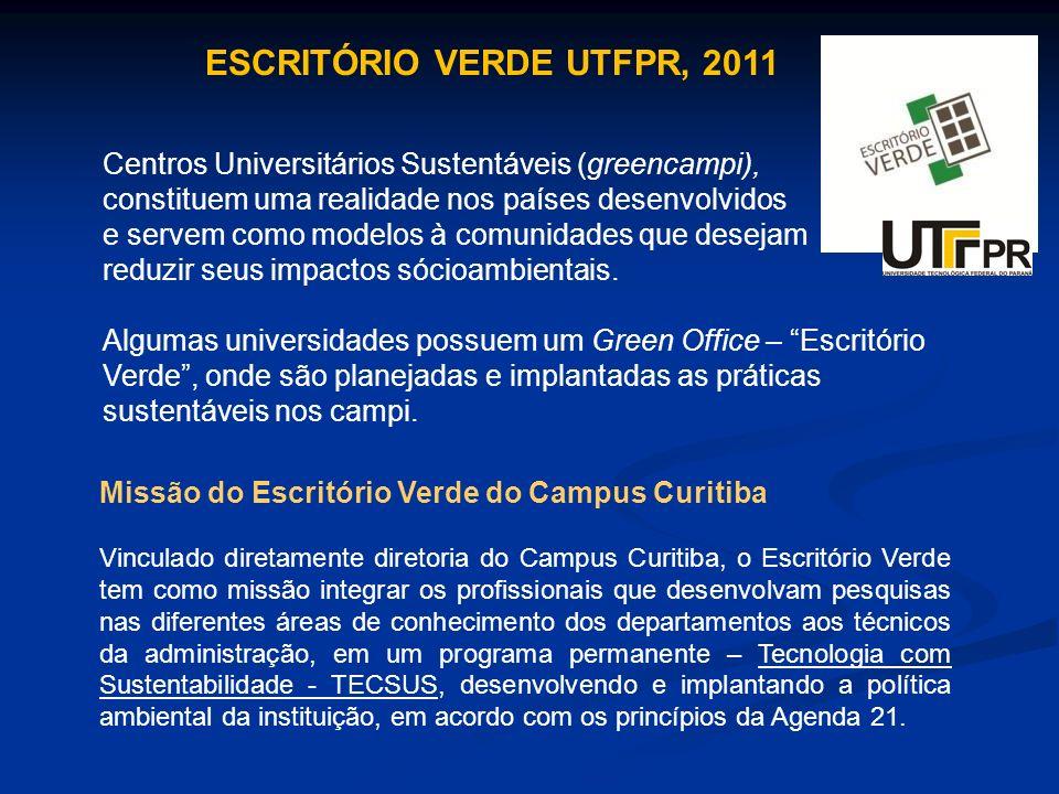 ESCRITÓRIO VERDE UTFPR, 2011