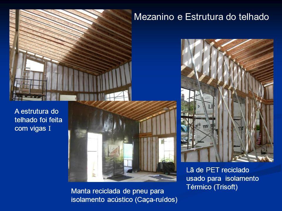 Mezanino e Estrutura do telhado