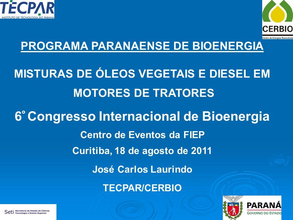 6º Congresso Internacional de Bioenergia
