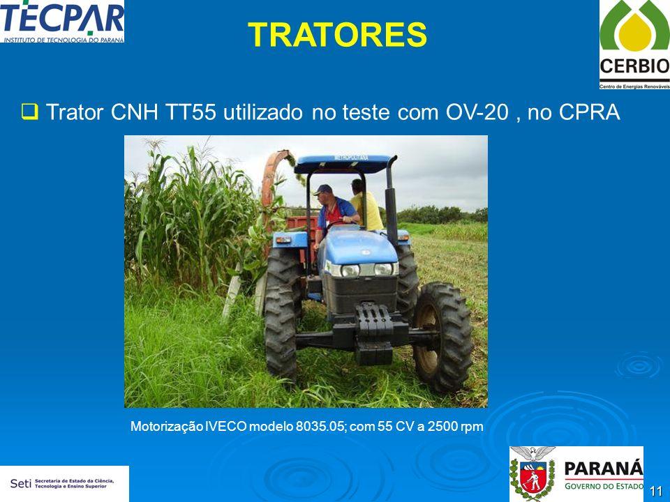TRATORES Trator CNH TT55 utilizado no teste com OV-20 , no CPRA