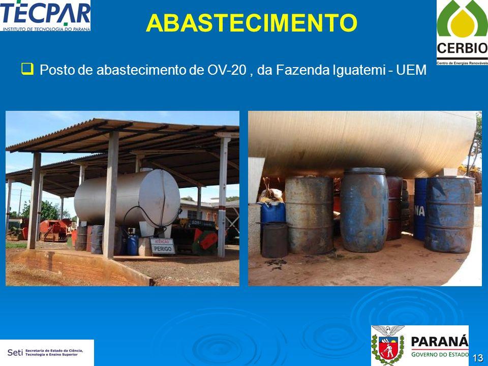 ABASTECIMENTO Posto de abastecimento de OV-20 , da Fazenda Iguatemi - UEM