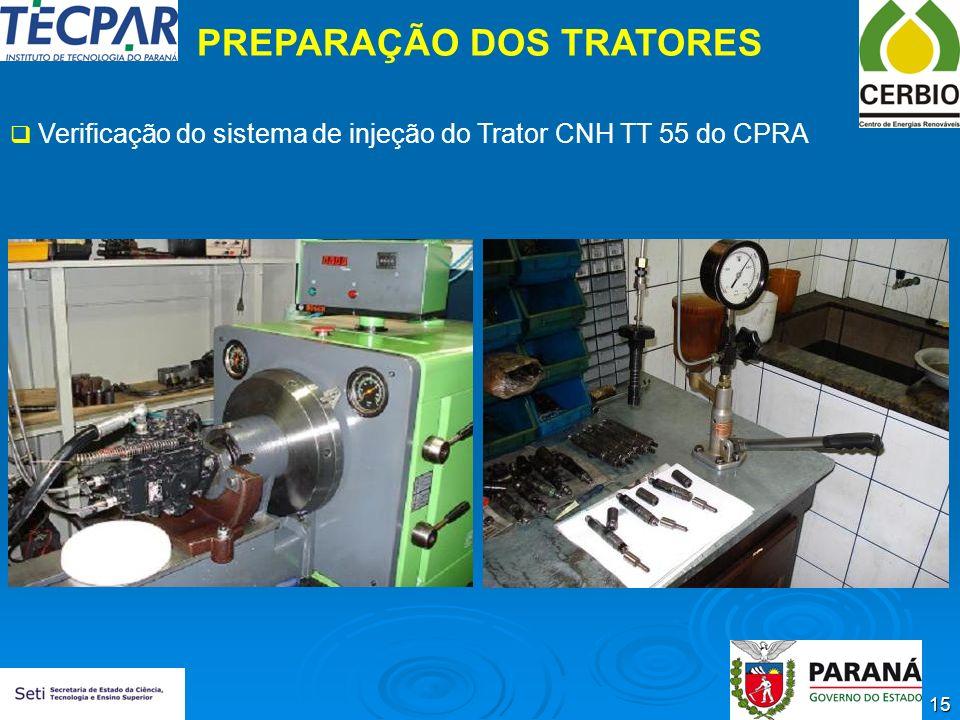 PREPARAÇÃO DOS TRATORES