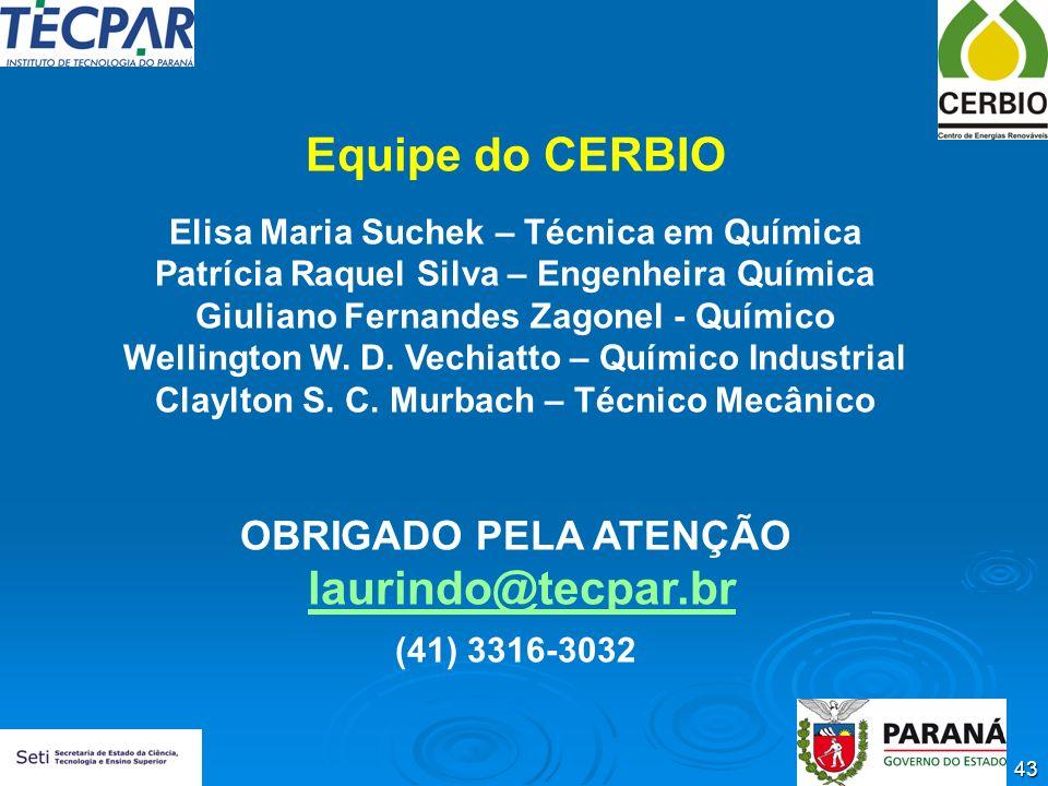 Equipe do CERBIO laurindo@tecpar.br