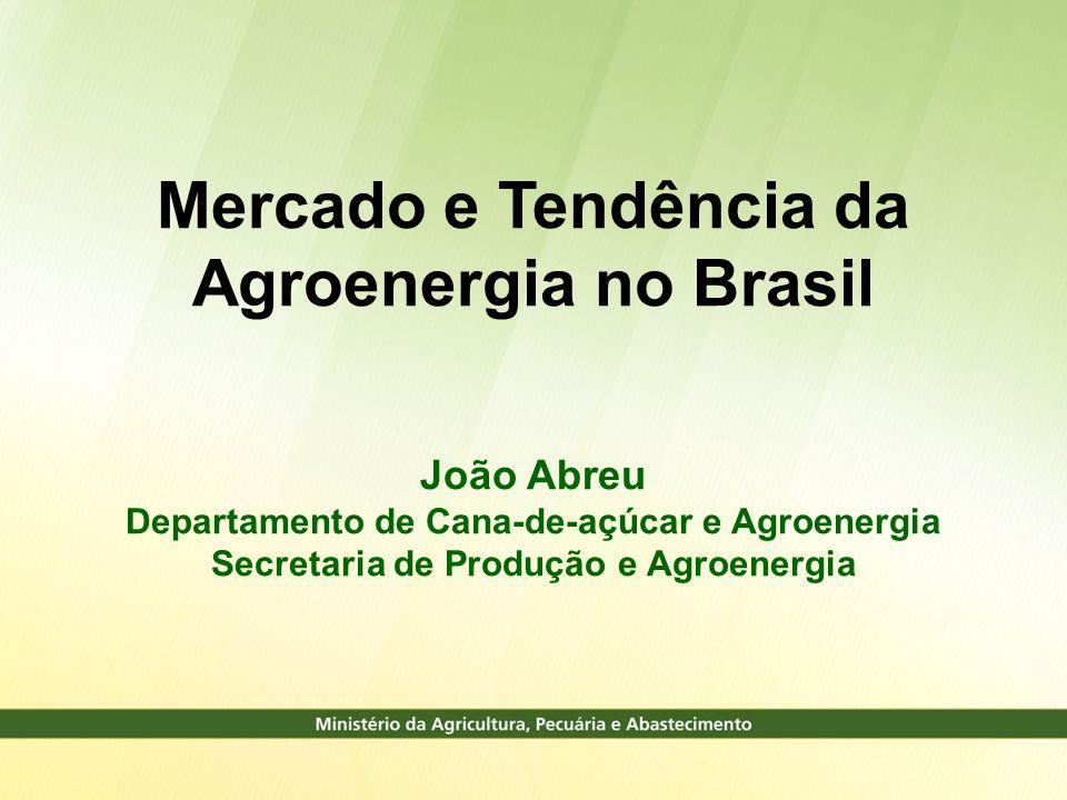 Mercado e Tendência da Agroenergia no Brasil