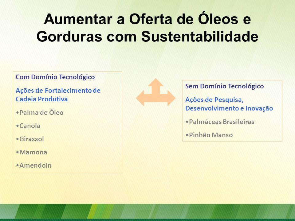 Aumentar a Oferta de Óleos e Gorduras com Sustentabilidade