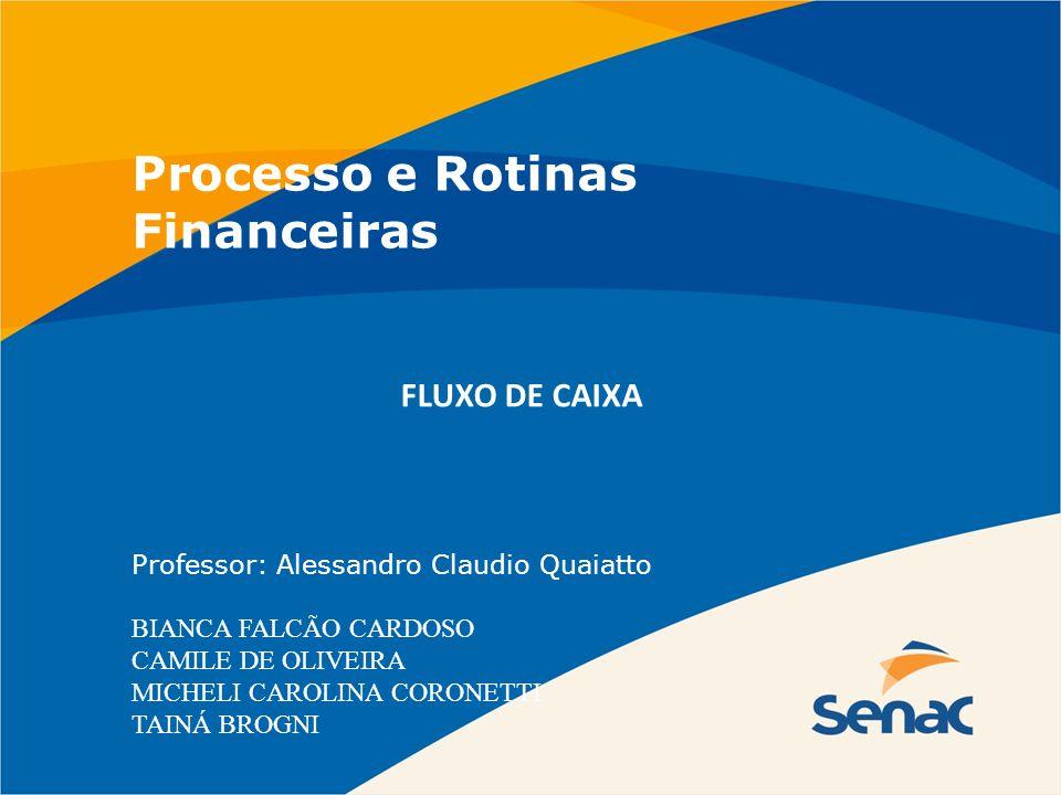 Processo e Rotinas Financeiras