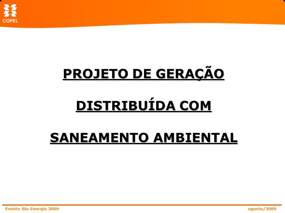 PROJETO DE GERAÇÃO DISTRIBUÍDA COM SANEAMENTO AMBIENTAL
