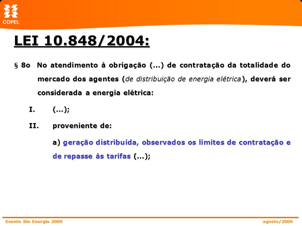 LEI 10.848/2004: