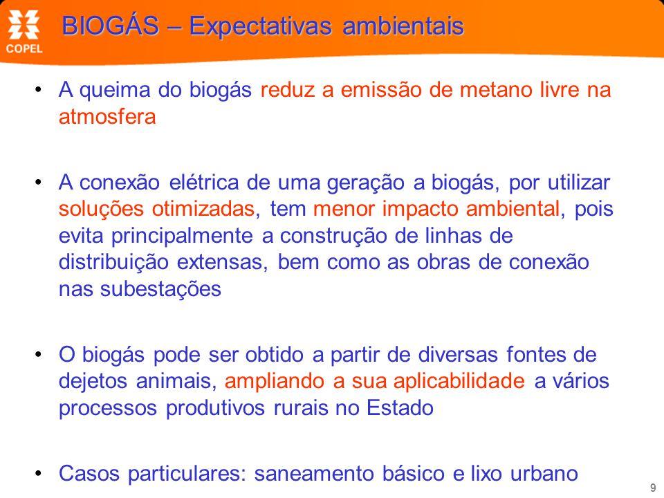 BIOGÁS – Expectativas ambientais