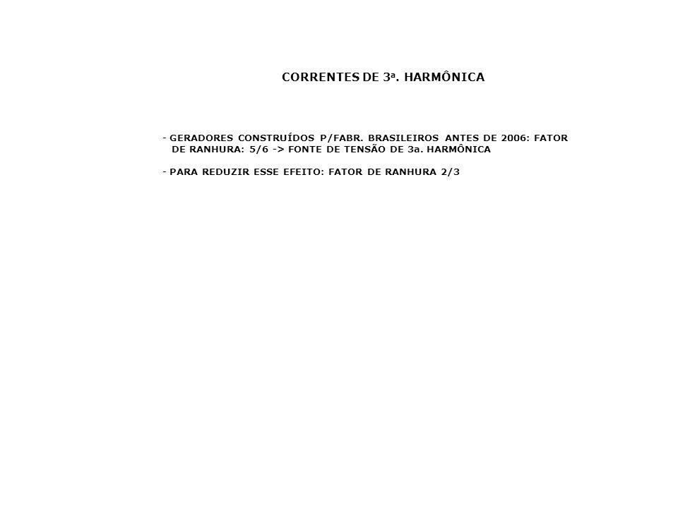 CORRENTES DE 3a. HARMÔNICA