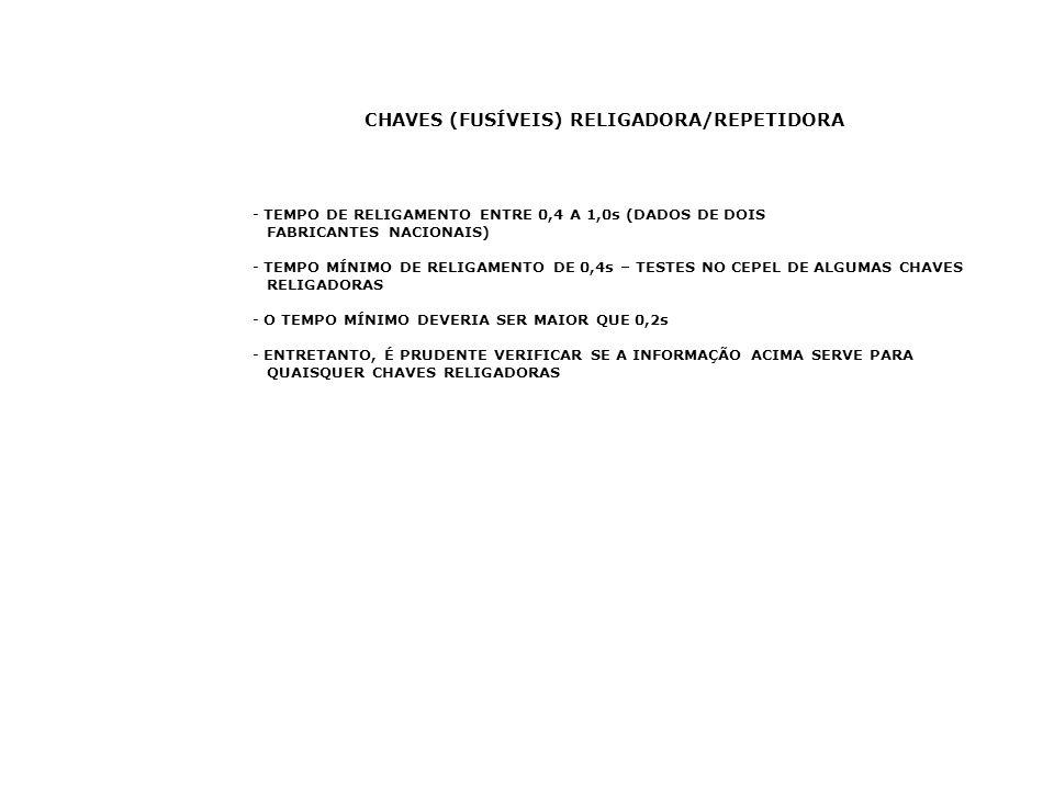 CHAVES (FUSÍVEIS) RELIGADORA/REPETIDORA