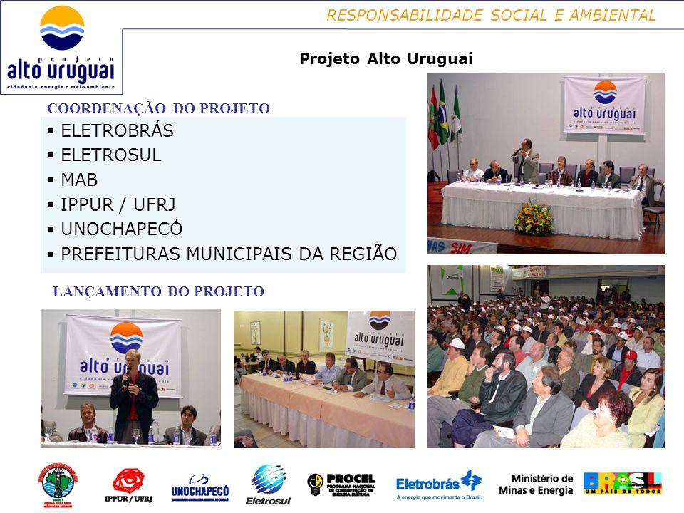 PREFEITURAS MUNICIPAIS DA REGIÃO ELETROBRÁS ELETROSUL MAB IPPUR / UFRJ