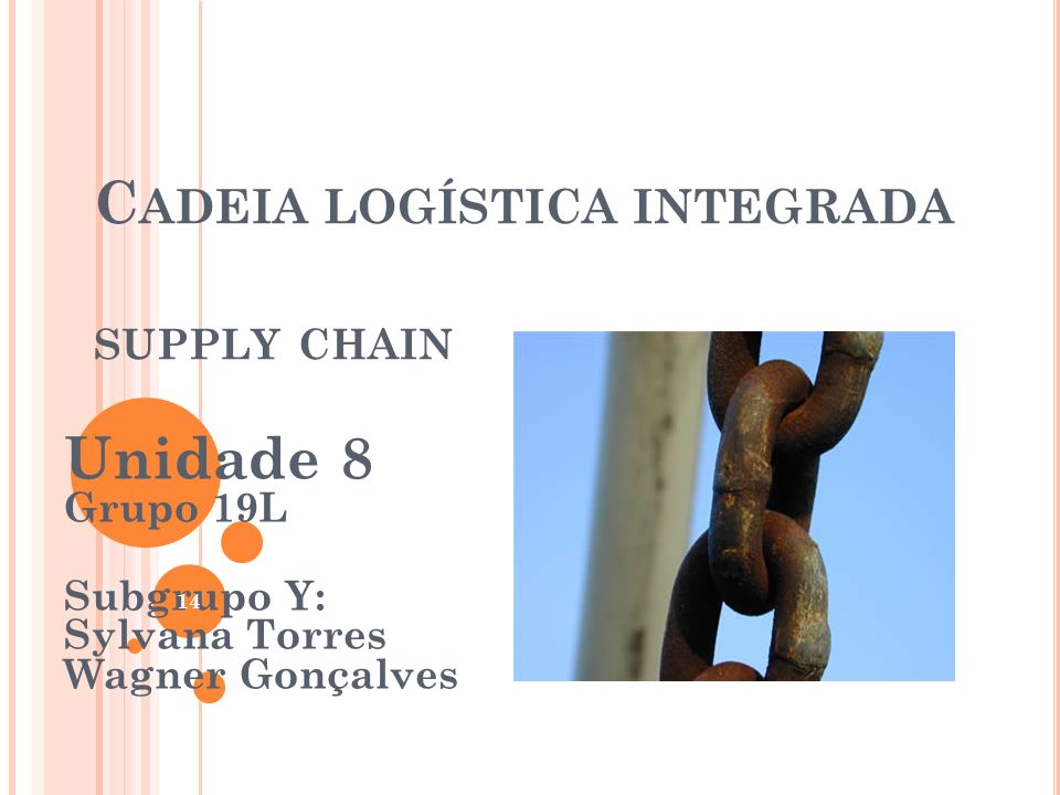 Cadeia logística integrada supply chain