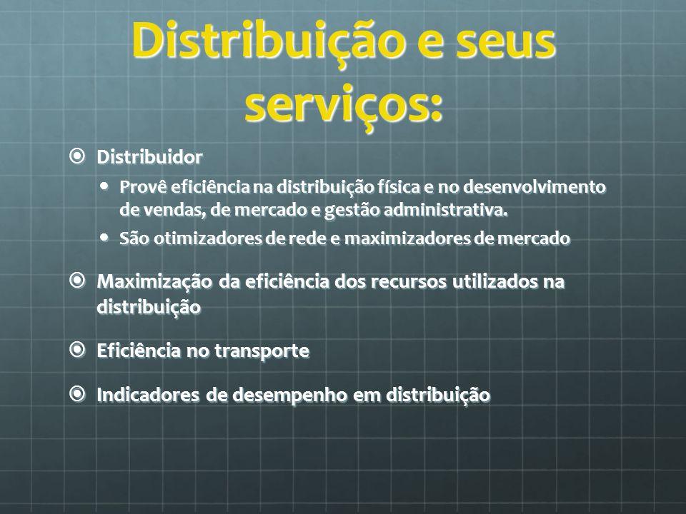 Distribuição e seus serviços: