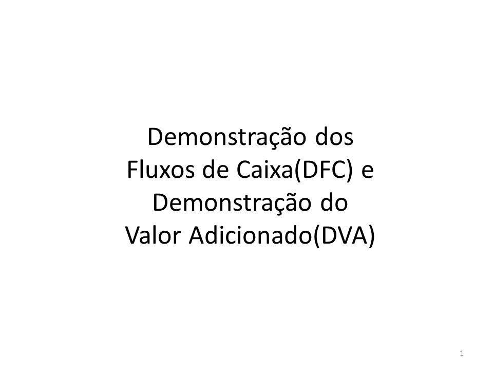 Demonstração dos Fluxos de Caixa(DFC) e Demonstração do Valor Adicionado(DVA)
