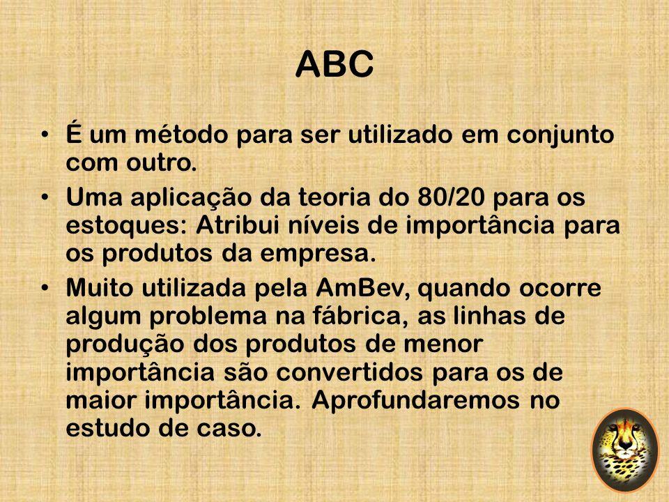 ABC É um método para ser utilizado em conjunto com outro.