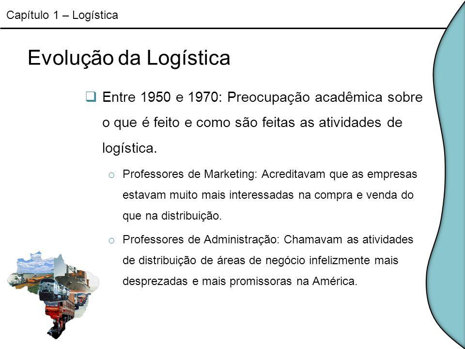 Capítulo 1 – Logística Evolução da Logística.