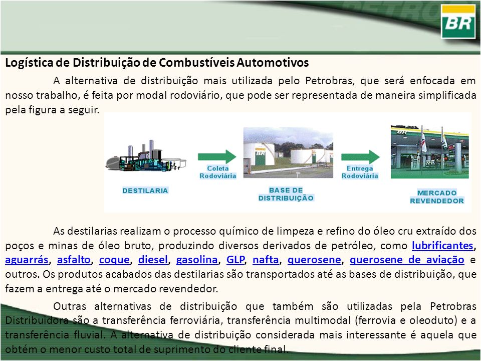 Logística de Distribuição de Combustíveis Automotivos