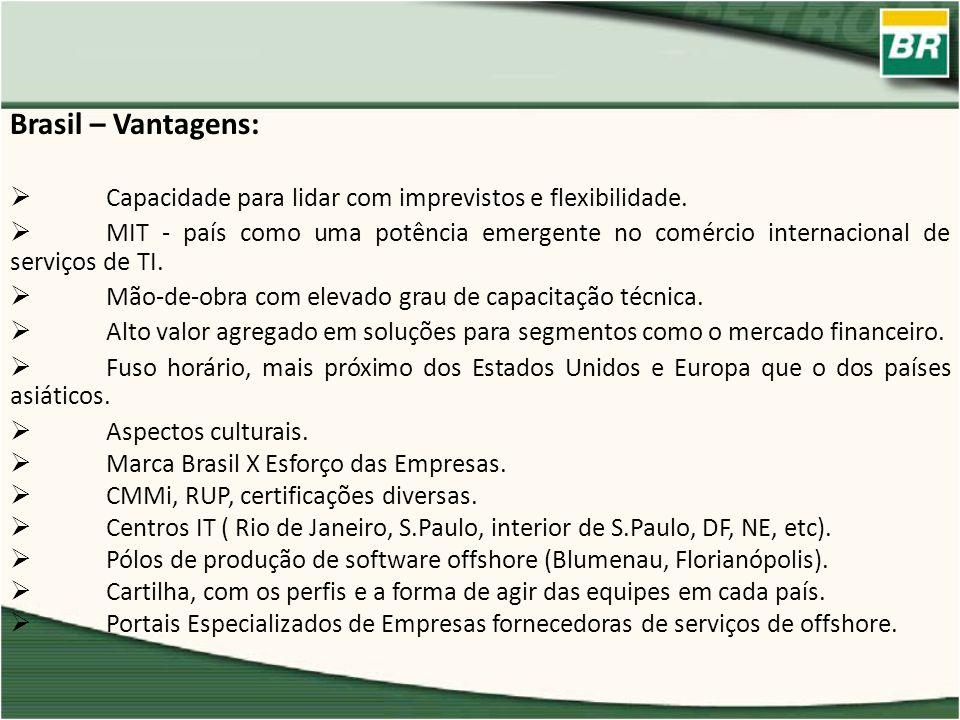 Brasil – Vantagens:Capacidade para lidar com imprevistos e flexibilidade.