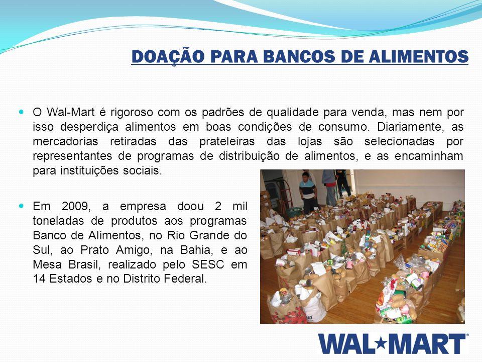 DOAÇÃO PARA BANCOS DE ALIMENTOS