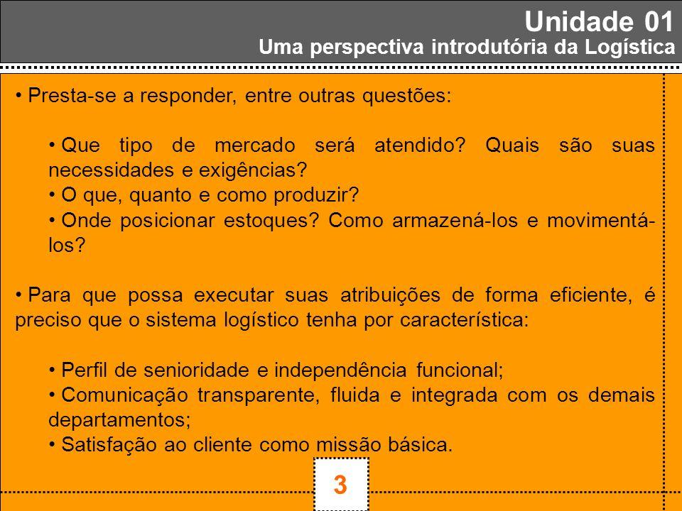 1 Unidade 01 3 Uma perspectiva introdutória da Logística