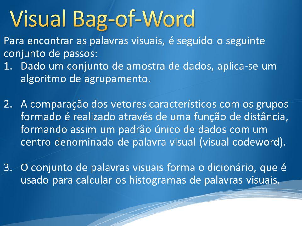 Visual Bag-of-Word Para encontrar as palavras visuais, é seguido o seguinte. conjunto de passos: